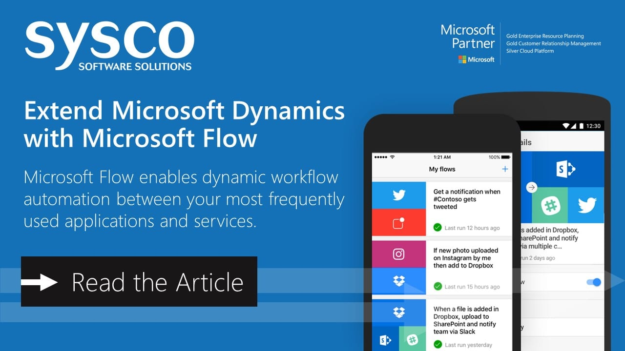 Extend Microsoft Dynamics with Microsoft Flow | Ireland and