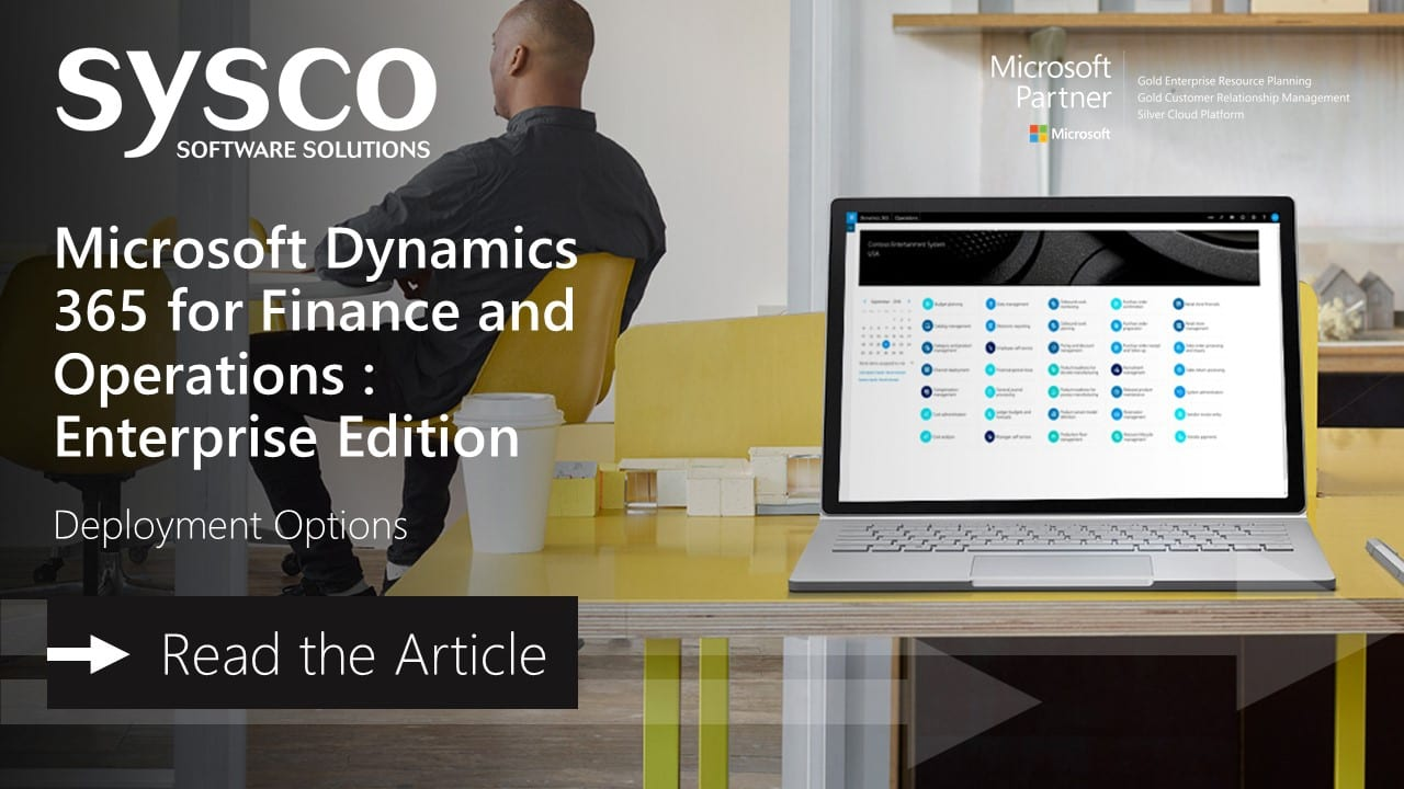 Deployment Options : Microsoft Dynamics 365 Finance and