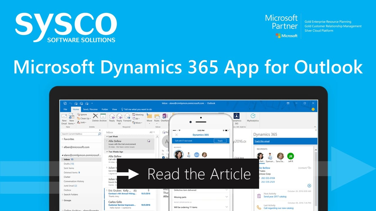 Microsoft Dynamics 365 App for Outlook - New Features and Better