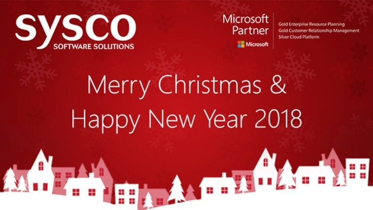everyone at sysco software solutions would like to take this opportunity to thank you for your continued custom and support throughout the year and we wish