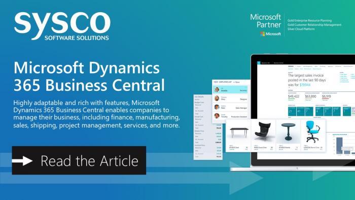 Microsoft Dynamics 365 ERP & CRM | Ireland | Sysco Software